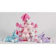 """12"""" White Castle with 5 Stuffed Unicorns and Bonus Unicorn Pendant Necklace"""