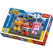 Puzzle clasic pentru copii, Trefl, 30 piese - Prieteni in hangar