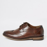 river island Boys Brown lace-up leather brogues (2)