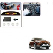 Auto Addict Car White Reverse Parking Sensor With LED Display For Hyundai i20 Active