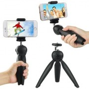 Yunteng YT-228 Mini Tripod Flexible Portable stand With Phone Holder Clip For Phone Digital DSLR Camera Smartphone.
