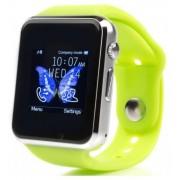 Smartwatch cu Telefon iUni A100i 1294, BT, LCD Capacitive touchscreen 1.54 Inch, Camera (Verde) + Cartela SIM Orange PrePay, 6 euro credit, 4 GB internet 4G, 2,000 minute nationale si internationale fix sau SMS nationale din care 300 minute/SMS internatio