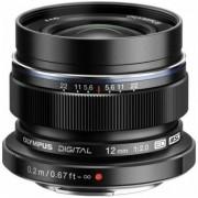 Obiectiv Olympus M.ZUIKO Digital, 12mm, 1:2.0 (Negru)