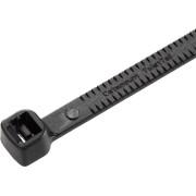 Colier cablu Twist Tail™, poliamida 6.6, negru, 181 x 4.7 mm, Ø fascicul 45 mm, la pachet, 50 bucati