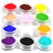 12 color nail glitter powder laser powder small glittering powder snow French manicure nail crystal photo therapy nail