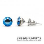 Jazzy metál kék Swarovski® kristályos fülbevaló - Metallic Blue