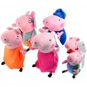 6pcs Peppa Pig Muñeca De La Felpa Set Familia