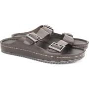 Clarks Netrix Free Brown Leather Slides