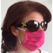 Ochranné rúško na ústa 1ks - s gumičkou - bavlna (ružové)