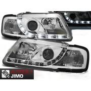 Přední světla, lampy s denním svícením, DRL Audi A3 8L 96-00 chromové