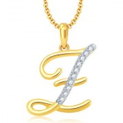 Sukkhi Letter Z Gold and Rhodium Plated CZ Alphabet Pendant