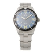 【50%OFF】Divers Sixty-Five ラウンド デイト ステンレスベルト ウォッチ フェイス:ブルー ベルト:シルバー ファッション > 腕時計~~メンズ 腕時計