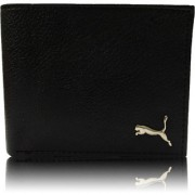 Branded Wallets for Men Genuine Leather 3 Card Slots Black