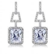 Cercei Borealy Argint 925 Simulated Diamonds 4 Carat