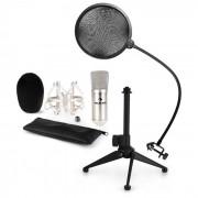 CM001S Set Microfono V2 Microfono a Condensatore Anti-pop Stativo argento