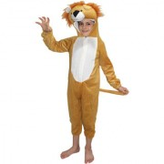 Kaku Fancy Dresses Lion Wild Animal Costume For Kids Annual function/Theme Party/Competition/Stage Shows/Birthday Party Dress