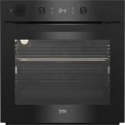Cuptor incorporabil Beko BIS14300BPS, 71 L, 8 functii de gatire, Grill, Steam Assisted Cooking, Autocuratare pirolitica, Display LED, Control mecanic, Clasa A+, Negru