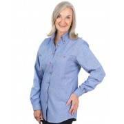 Bisley Ladies Long Sleeve Chambray Shirt