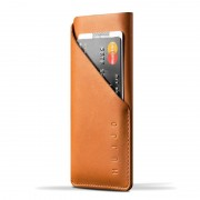 Mujjo - Leather wallet Sleeve iPhone X/Xs