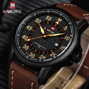 NAVIFORCE Mens Watches Top Brand Luxury Quartz Watch Men Waterproof Sport Military Watches Men Leather relogio masculino 2017