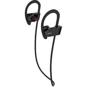 WAVE-In-Ear Wireless Bluetooth Headphone Earbuds-Comfortable Headphones with Noise Cancellation Sweat Proof UpTo 7Hr Continous Play works with iPhone iPad & Android Devices (Black)