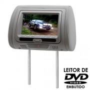 ENCOSTO DE CABEÇA AUTOMOTIVO C/ DVD TECHONE TELA 7