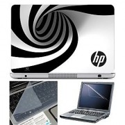 FineArts Laptop Skin HP Spiral With Screen Guard and Key Protector - Size 15.6 inch