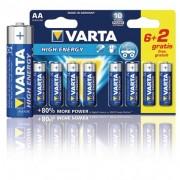 Varta Alkáli elem AA 1.5 V High Energy (8db/csomag)