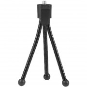 EY Flexible Universal Mini Portátil De Metal Soporte Del Trípode Para Cámara Digital Webcam Negro.