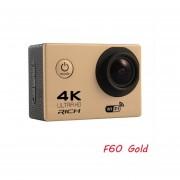 """Rico Cámara de Acción F60/F60R Ultra HD 4 K/30fps WiFi 2,0 """"170D ir cámara de casco pro bajo el agua, cámara impermeable del deporte(#F60)(# Opción6)"""