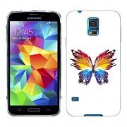 Husa Samsung Galaxy S5 Mini G800F Silicon Gel Tpu Model Abstract Butterfly