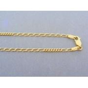 Zlatá retiazka žlté zlato malé veľké očká DR40508Z
