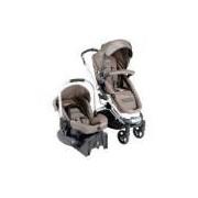 Carrinho De Bebê E Bebê Conforto Travel System Marrom Eclipse Kiddo