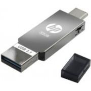 HP Type 'C' OTG 3.1 Metal USB Dual Drive X304m 32 GB OTG Drive(Silver, Black, Type A to Type C)
