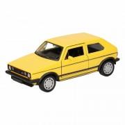 Volkswagen Speelgoed gele Volkswagen Golf I GTI speelauto 12 cm - Action products