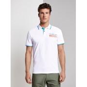 TOM TAILOR Bedrukte polo hemd, White, S