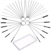DIY Crafts Carburetor Carbon Dirt Cleaner Tool Kit Including Nylon Tube Brush and Cleaning Needles (Pack of 32 pcs)