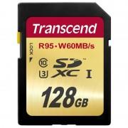 Card Transcend SDXC 128GB Class 10 UHS-I U3 W60
