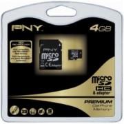 MEMORY CARD MICRO SD PNY 4 GB + MICRO