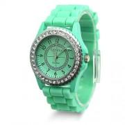 silikonové hodinky geneva Barva:: Světle zelená