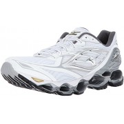Mizuno Running Men's Mizuno Wave Prophecy 6 Running-Shoes, White/Silver/Gold, 12. 5 D US