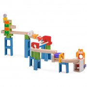 Wonderworld Marble Run Cat and Mouse Track Wood HOUT192459