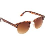 VESPL Round Sunglasses(Brown)