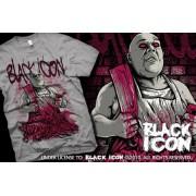 hardcore póló férfi - Grey - BLACK ICON - MICON055