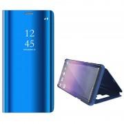 Luxury Series Mirror View Samsung Galaxy Note9 Flip Case - Blue