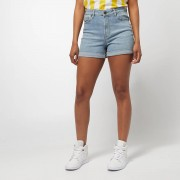 Urban Classics Ladies 5 Pocket Shorts - Blauw - Size: 31; female