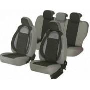 Huse scaune auto Suzuki Grand Vitara Editia Racing Insertii Piele Ecologica cu Textil 11 piese Gri