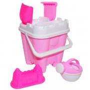 Set jucarii pentru joaca in nisip - Galetusa roz si accesorii