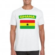 Bellatio Decorations Ghanese vlag shirt wit heren