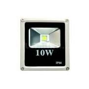 Refletor Led 10w C/ Sensor De Presença Branco Frio